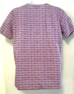 NWT DEREON PURPLE GOLD WHITE LOGO SCRUB SHIRT XXXL NEW