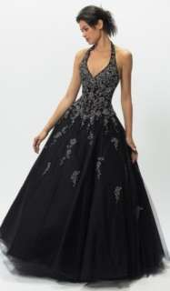 New Stock Wedding Blue Formal Prom Evening Dress Gown Ball Size: 8 10