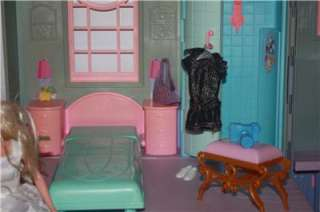 Vintage Victorian Barbie Doll House Lot Girls Toys