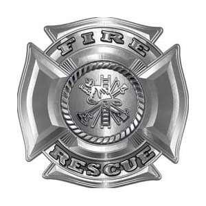 Fire Department Maltese Iron Cross Silver Fire Rescue Firefighter
