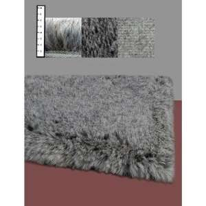 Flokati Faux Fur Rugs 6 x 9 (GREY) Furniture & Decor