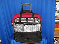 SKYWAY RED ROLLING COMPUTER LAPTOP SOFT TRAVEL CASE WOW