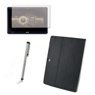 3in1 Accessory Leather Case Cover Screen Film Stylus For Acer Iconia