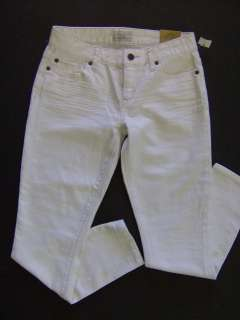 Aeropostale white denim jeans cropped pants womens juniors 3/4