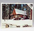 VTG Whitman Jigsaw Puzzle Nothwoods Retreat A Frame Log Cabin Circa