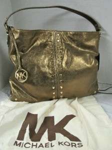 MICHAEL KORS UPTOWN ASTOR LEATHER BAG BRONZE NWT $378