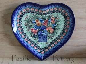 Pottery CA Signature Heart Plate Platter Unikat 3973 Stoneware LIANA