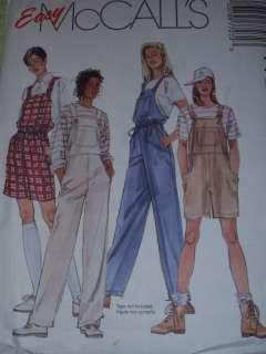 McCALLS 7727 LADIES OVERALL PANTS~SHORTS PATTERN XS XL