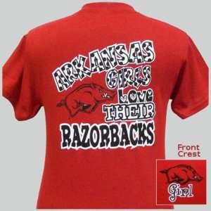 Arkansas Girls Love Their Razorbacks Youth T shirt