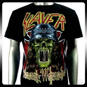 Slayer Heavy Metal Rock Punk Band Men T shirt Sz XL