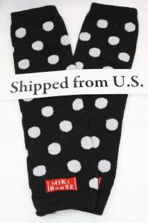 BOY GIRL LEG WARMERS LEGGINGS BABY LEGS KIDS BLACK DOTS