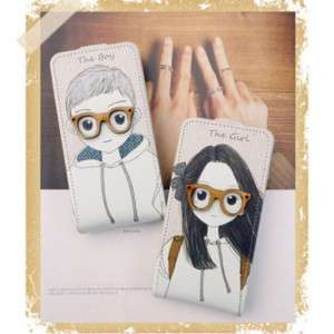 APPLE IPHONE 4G Leather Case Cover BOY & GIRL +Cleaner
