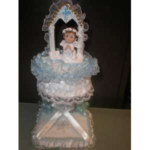 Baby Baptism/first Communion Cake Topper Centerpiece