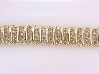 Genuine Diamond 5.00ct Yellow Gold Ladies Tennis Bracelet Jewelry