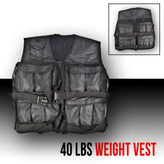 TRAINING WEIGHTED VEST MEN EXERCISE ADJUSTABLE 40 POUNDS LB WEIGHTS