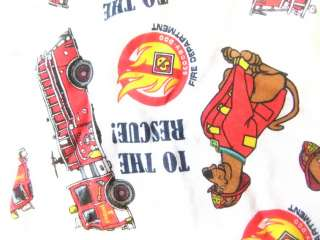 Mens Boxer Shorts Underwear Scooby Doo To The Rescue Firefighter Fire