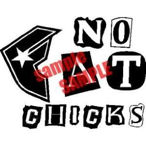 NO FAT CHICKS FAMOUS WHITE VINYL DECAL STICKER Everything