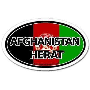 Afghanistan Herat and Afghan Flag Car Bumper Sticker Decal