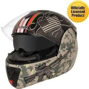 Afghanistan War Graphics Advance Dual Visor Modular Helmet Sz L