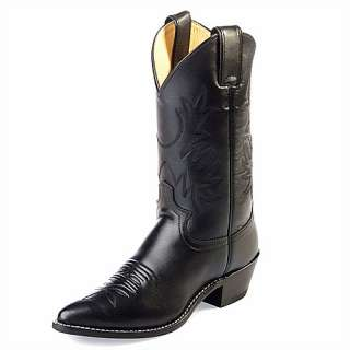 Womens JUSTIN 11 Black London Western Boots L4903