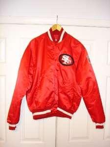 49ers Starter Jacket Vintage S F Pro Line NFL Mens Jacket satin 80s