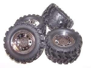 Redcat 1/10 Ground Pounder 4x4x4 Monster 12mm Wheels Tires Rims Set