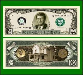 50 Factory Fresh 40th President Ronald Reagan Bills