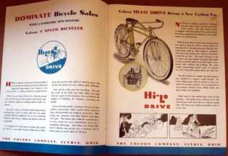 classic 1934 Colson Hi Lo Bicycle CATALOG antique bike