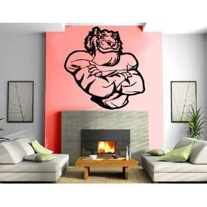 Cool Quarter Back Cartoon Tiger Sports Kids Room Animal