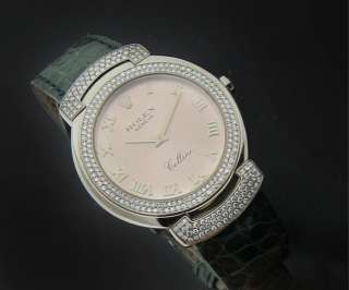 ROLEX CELLINI WHITE GOLD DIAMOND WATCH 6683