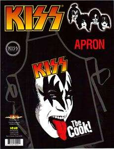 KISS 70s Rock BAND Gene Simmons KITCHEN WORK APRON New