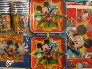 MICKEY MOUSE FUN & FRIENDS Birthday Party Supplies Set Pack Kit for 16