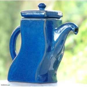 Ceramic teapot, Blue Akimbo