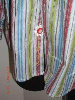 Robert Graham Mens Casual Shirt Pattern Pink Aqua Grey Lime X Large $