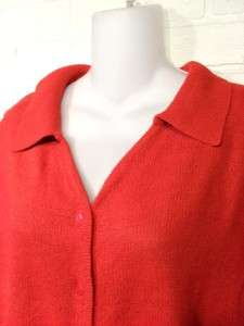 Red Collared Sweater Vest ~ WHITE STAG ~ Size L