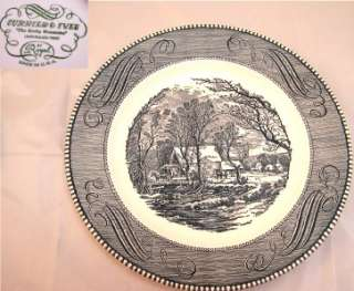 31 Royal Currier & Ives Blue and White Dinner Plates
