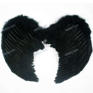 Medium Feather Angel Wings Halloween Christmas Costume White Black