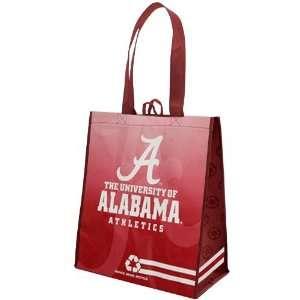 Alabama Crimson Tide White Crimson Fade Reusable Tote Bag