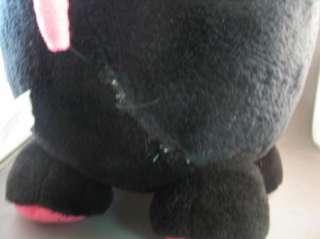 Cloud 9 Plush Black Hot Pink Pig Pot Bellied Huge Plush