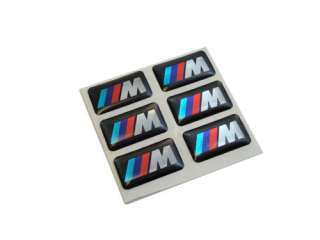 x6 BMW M TECH M EMBLEM WHEEL BADGE STICKERS DECALS OE