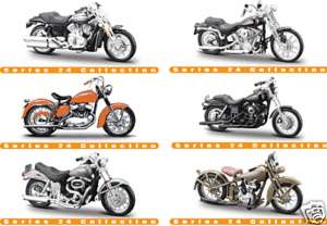HARLEY DAVIDSON SERIES 24 1/18 SET OF 6 NEW 2008 MAISTO