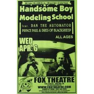 Handsome Boy Modeling School Fox Boulder Gig Poster rap