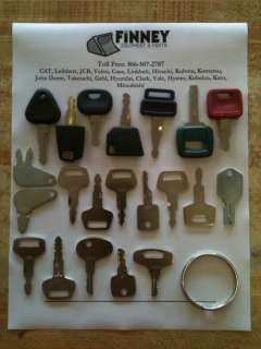 Equipment key set Kubota Broce International Mitsubishi Kobelco Cat