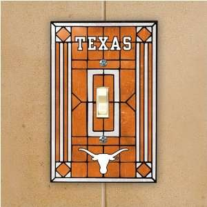 Memory Company Texas Longhorns Glass Switch Plate Cover