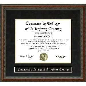 Community College of Allegheny County (CCAC) Diploma Frame