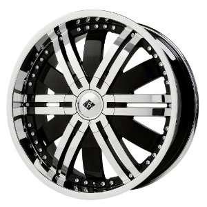 Black Ice Alloys Marauder Black Wheel with Chrome Finish