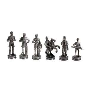 Lead Alloy Civil War Chess Set: Toys & Games