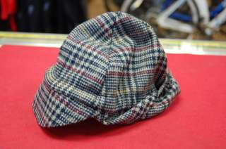 Walz Wool Ear Flap Cycling Cap Plaid Large/Extra Large