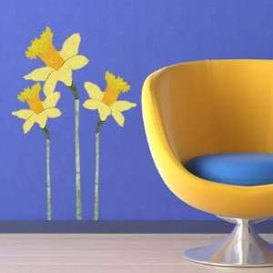 Repositionable & Removable Yellow Flower Wall Decals