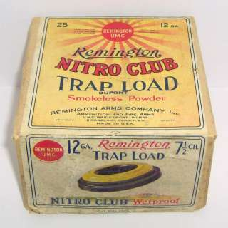 1922 REMINGTON NITRO CLUB TRAP LOAD 2 PIECE 12 GA EMPTY SHOTGUN